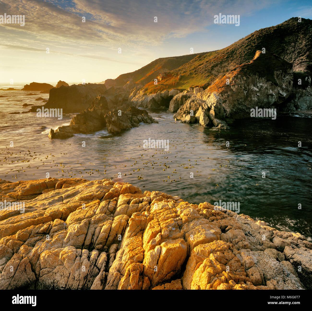 Granito, Garrapata State Park, Big Sur, Monterey County, California Immagini Stock