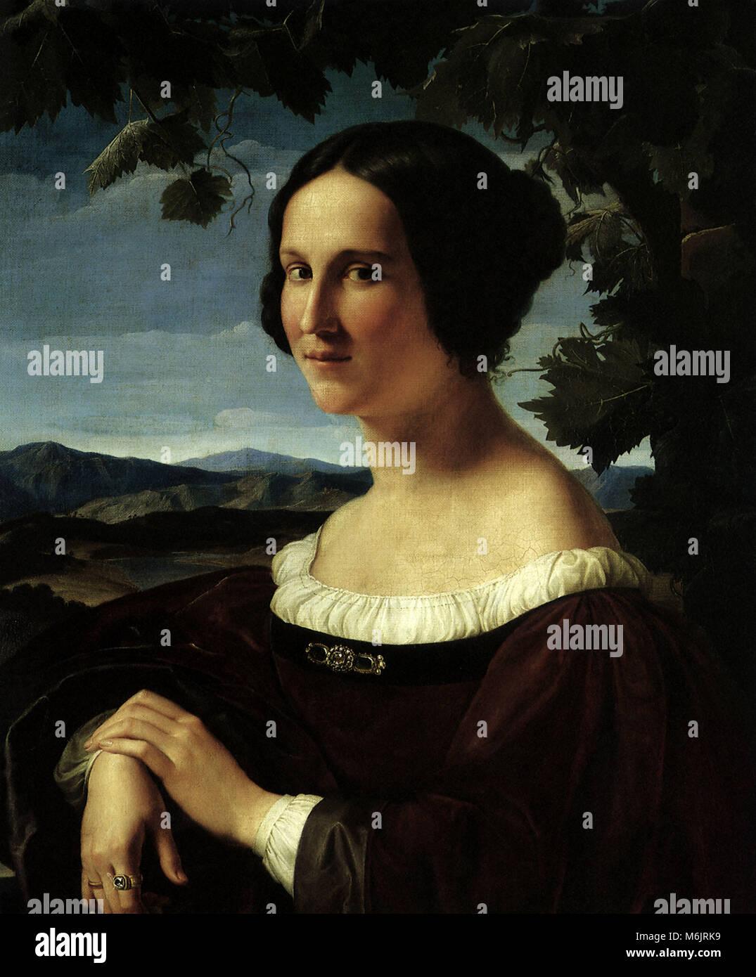 Ritratto di una giovane donna, Schadow, Friedrich Wilhelm von, 1832. Foto Stock