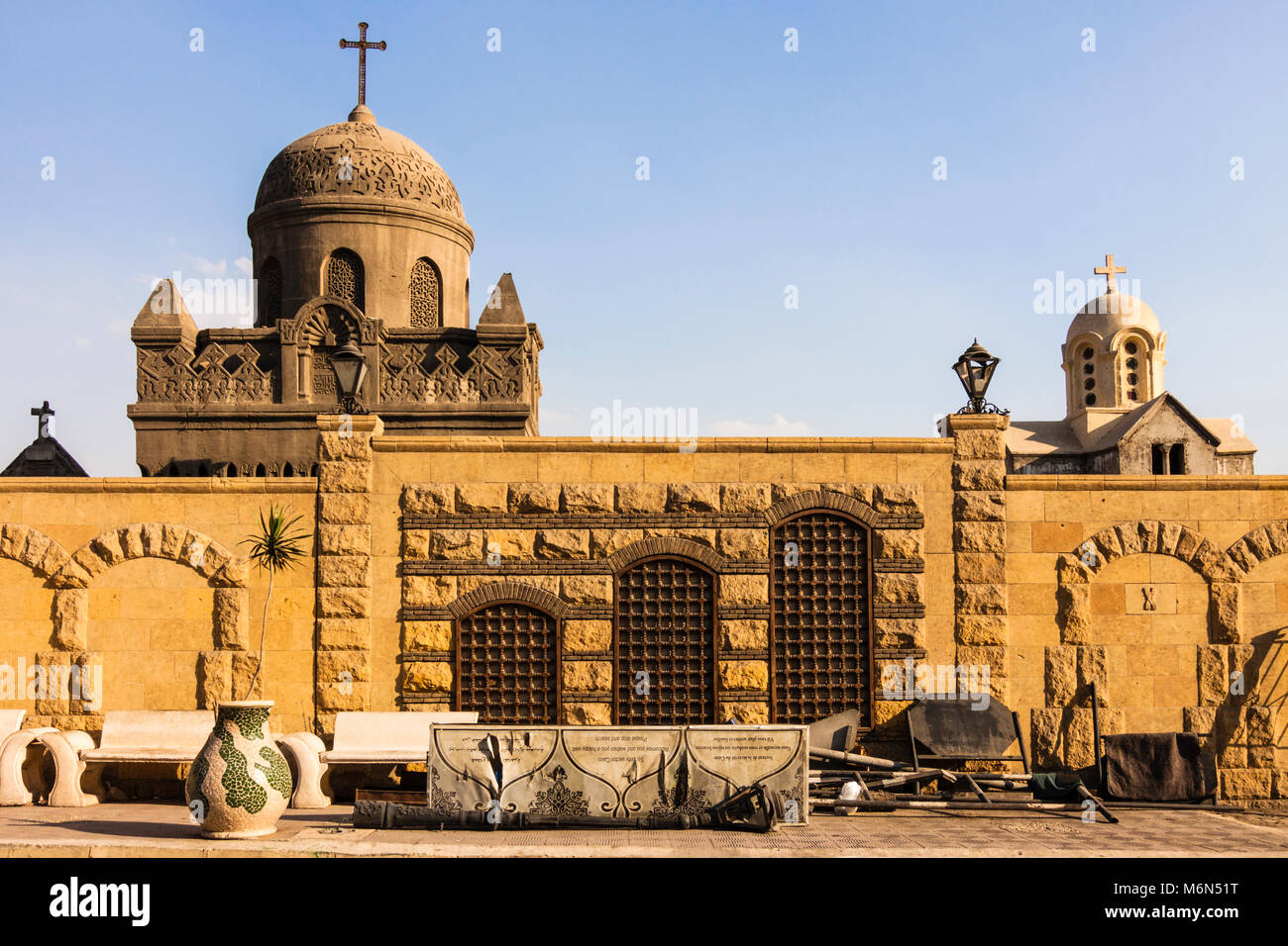 Greco-ortodossi cimitero. Il Cairo copto. Immagini Stock