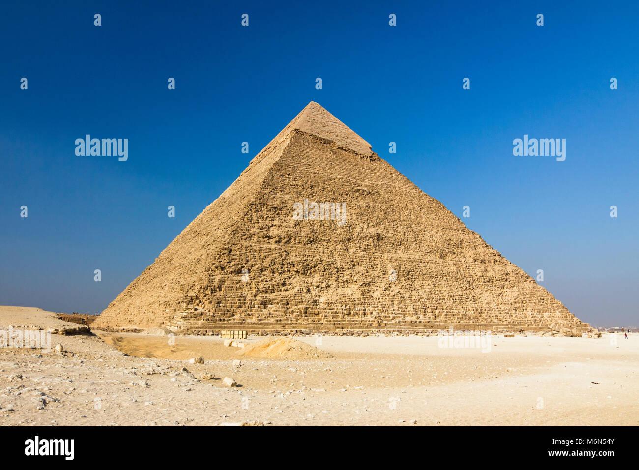 Piramide di Chephren, Il Cairo, Egitto Immagini Stock