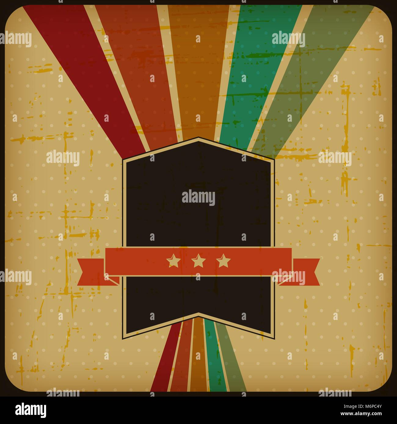 Poster retrò con abstract sfondo grunge Immagini Stock