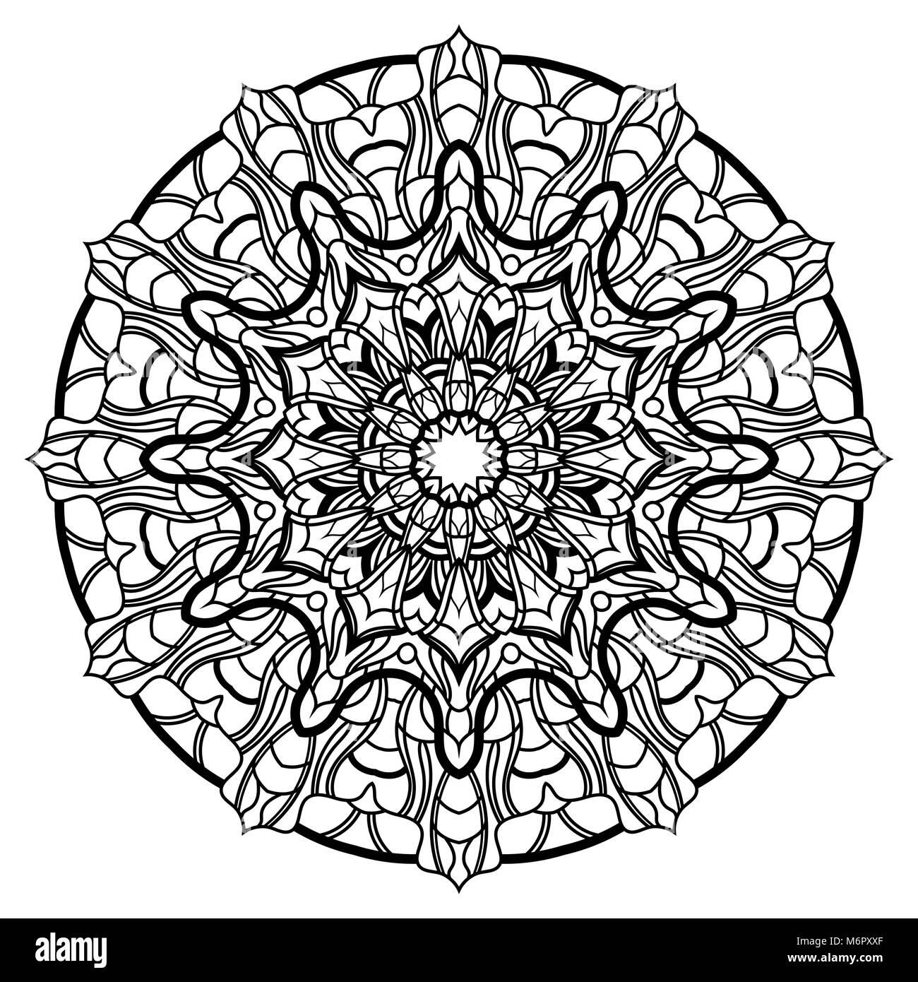 I Mandala Per Libro Da Colorare Round Decorativo Ornamenti