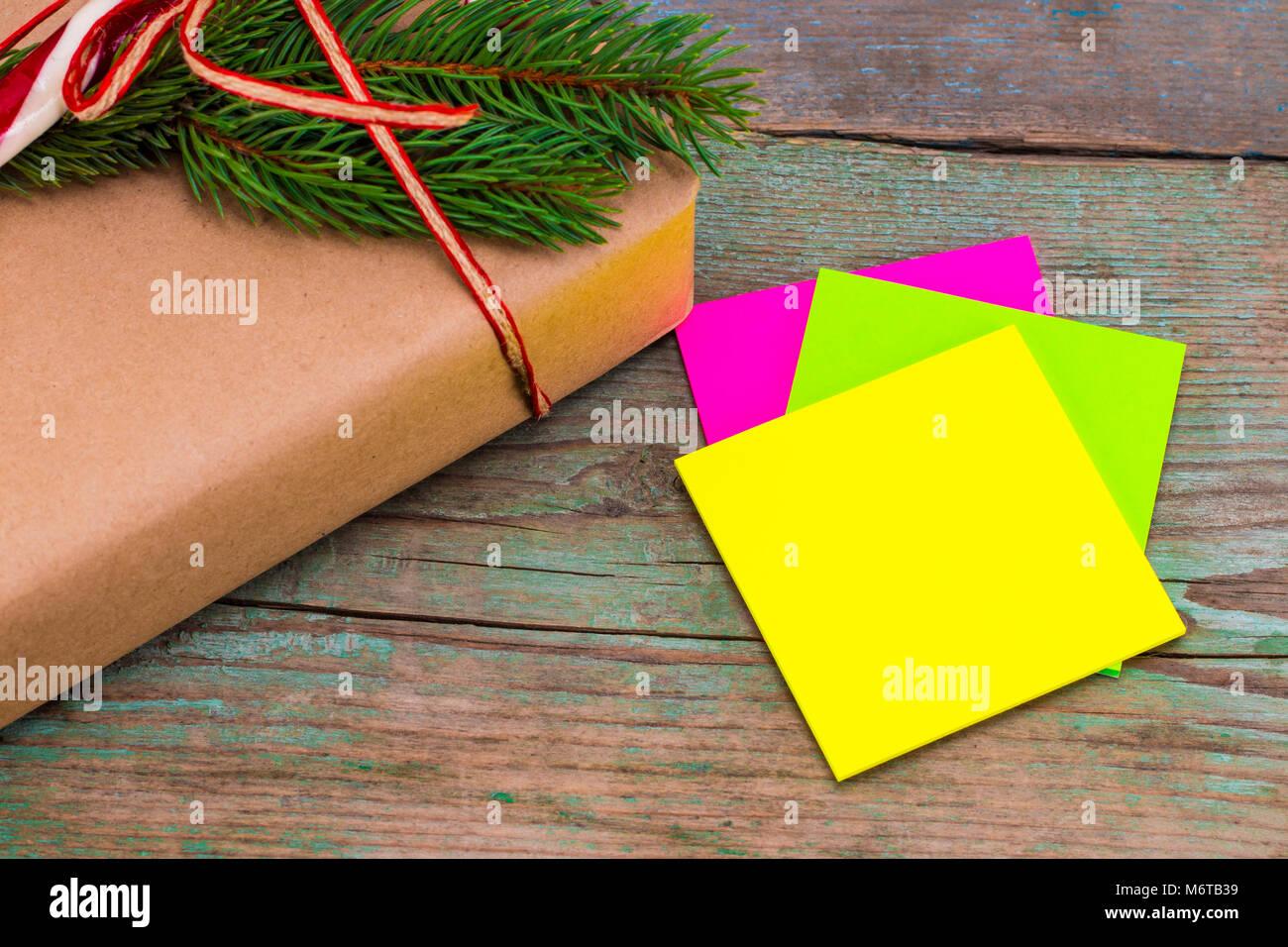 Scatole Per Regali Di Natale.Decorazione Di Natale Scatole Con I Regali Di Natale Con Una Nota
