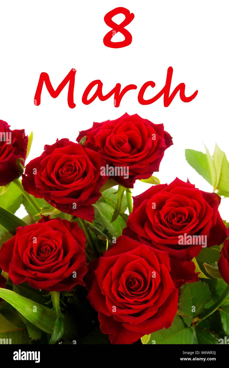 Fiori 8 Marzo.Giornata Della Donna Fiori Con Word 8 Marzo Foto Immagine