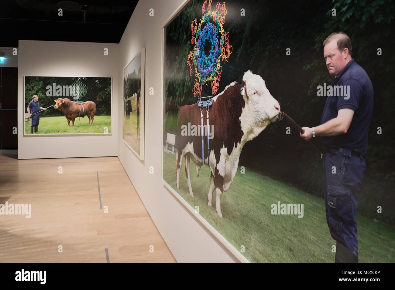 Londra, Regno Unito. Il 7 marzo 2018. Un'installazione chiamato Sire, da Maria McKinney, da qualche parte tra Immagini Stock