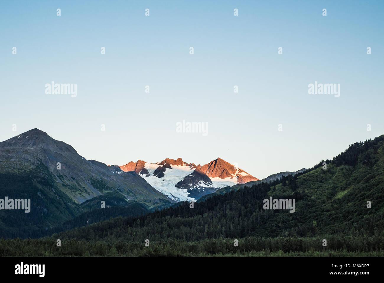 Il Parco nazionale di Kenai Fjords Immagini Stock