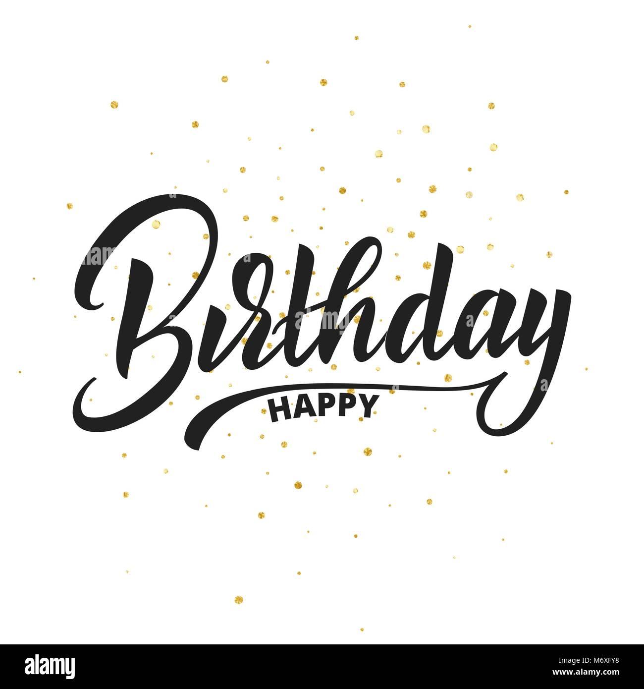 Buon Compleanno Scritte Disegno Vettoriale Compleanno Biglietto Di