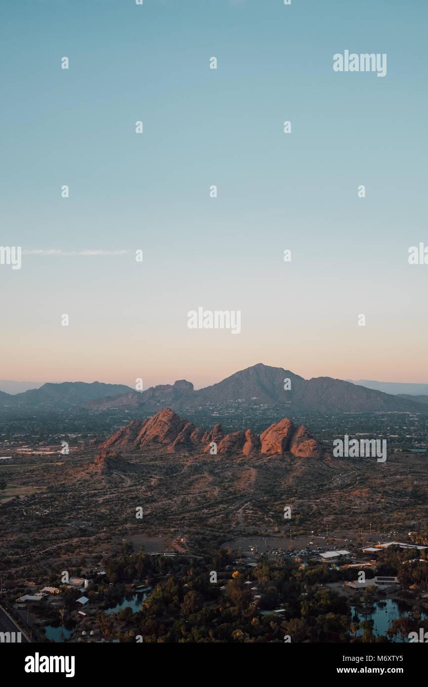 Viste della Arizona dal di sopra Immagini Stock
