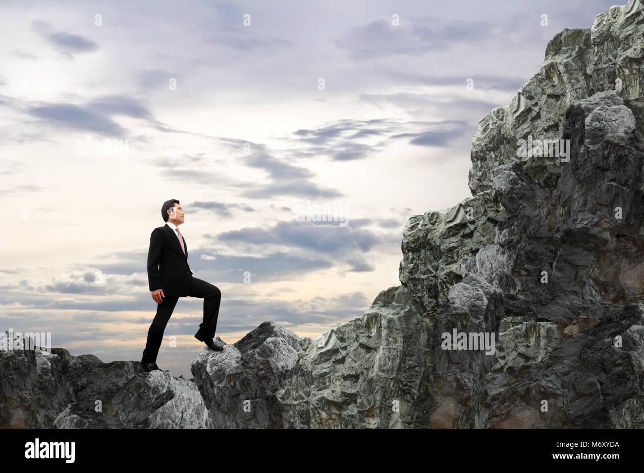 Concetto business. Il coraggio di imprenditore. Immagini Stock