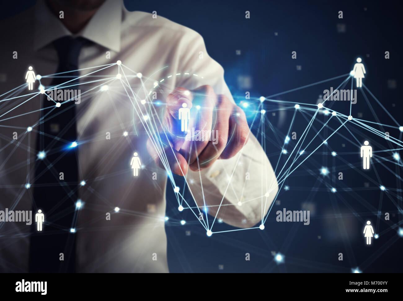 Human Resource Manager seleziona il team per un nuovo progetto Immagini Stock