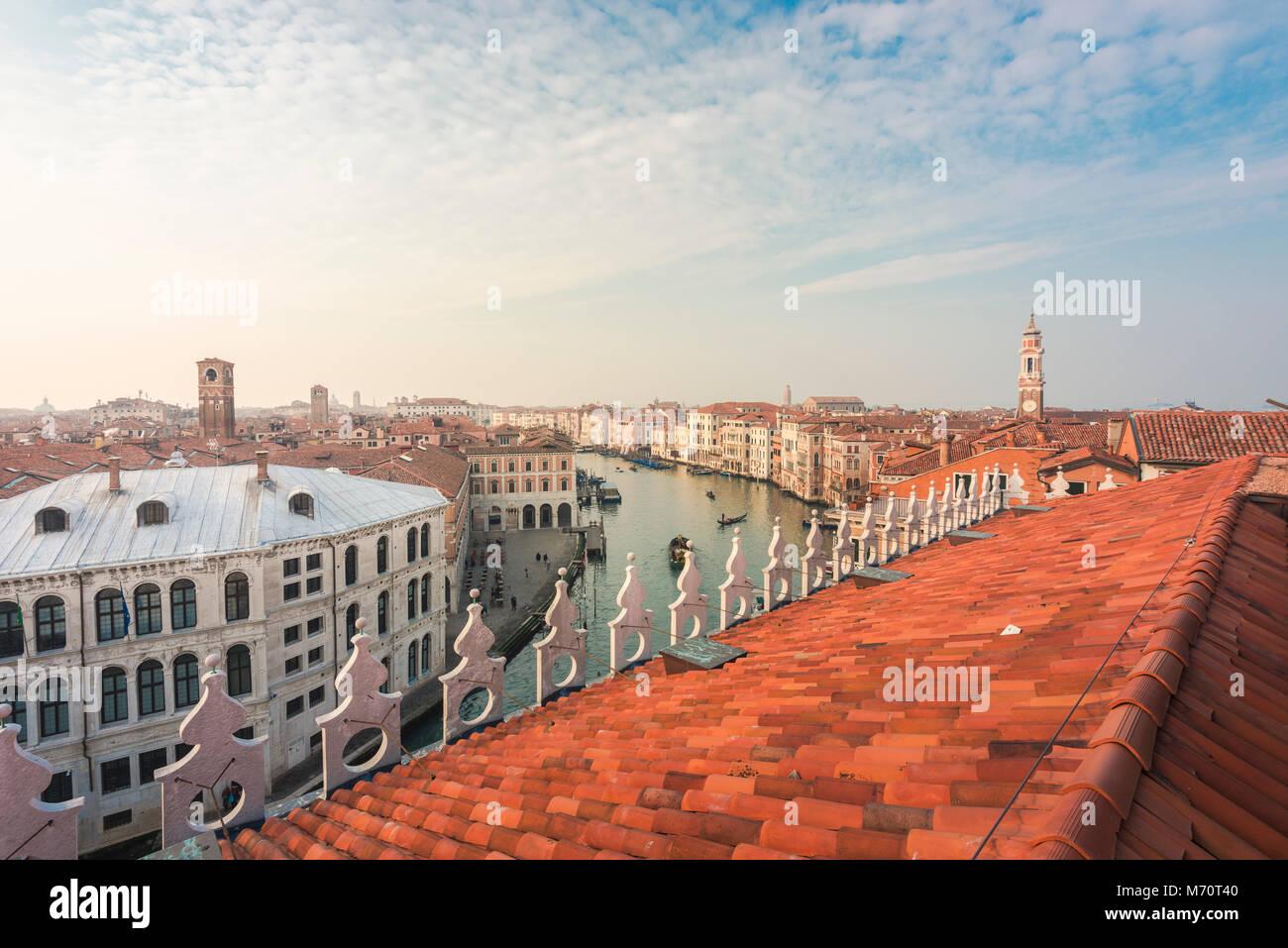 La Vista Sul Canal Grande Dalla Terrazza Panoramica Del