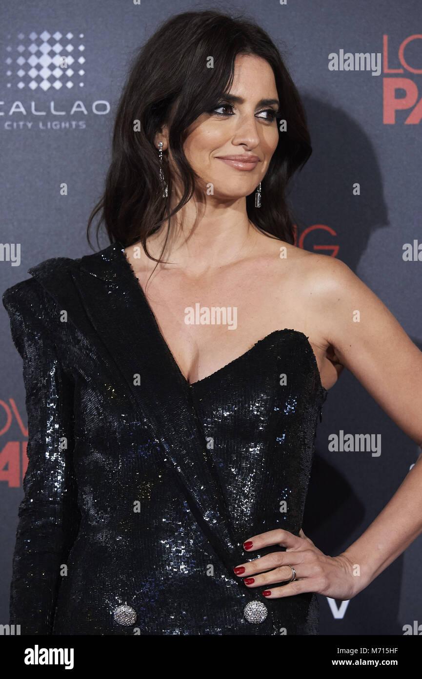 Madrid, Madrid, Spagna. 7 Mar, 2018. Penelope Cruz assiste 'amante Pablo' Premiere a Callao cinema il 7 marzo 2018 Foto Stock
