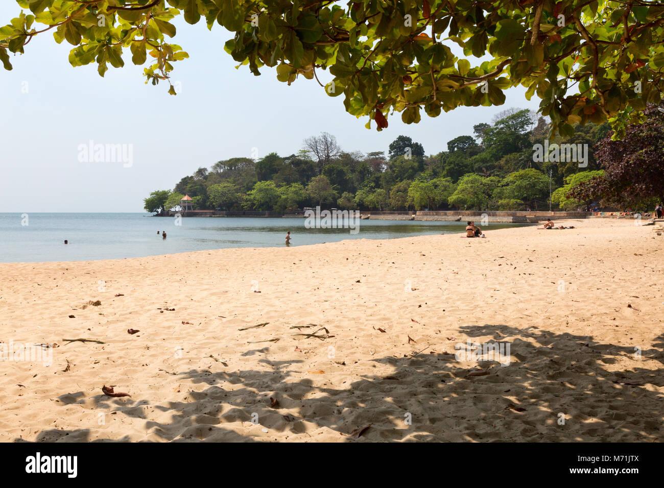 Kep Beach, Kep Kampot provincia, Cambogia Asia Immagini Stock