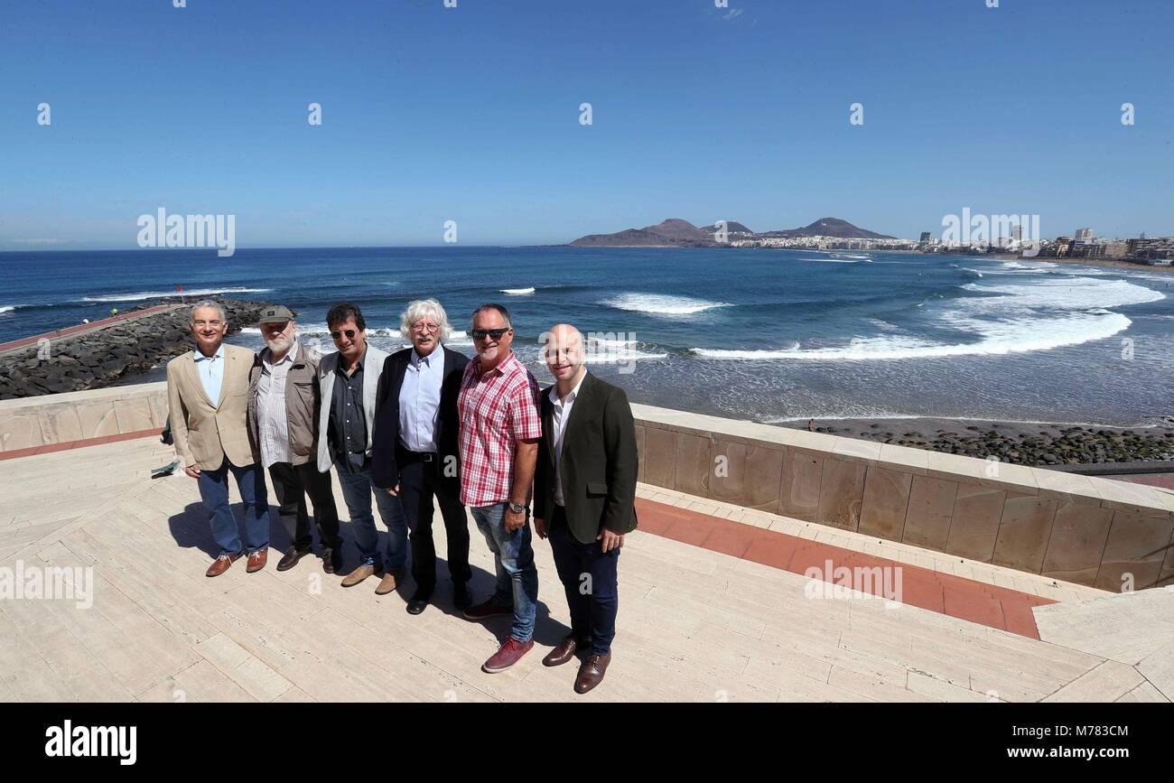 I membri di musicisti argentini e comici Les liutai (L a R) Jorge Maronna, Marcos Mundstock, Horacio 'Stato' Immagini Stock