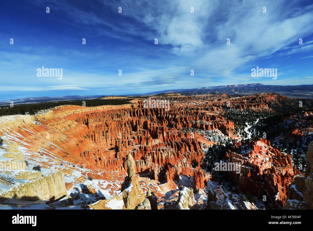 Bryce Canyon durante l'inverno. Foto Stock