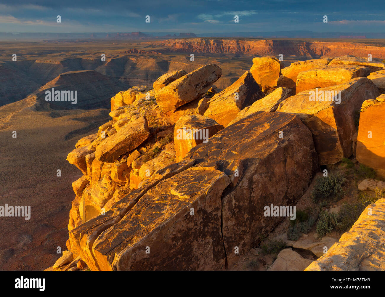Sunrise, Muley Point, Monument Valley, Glen Canyon National Recreation Area, Utah Immagini Stock
