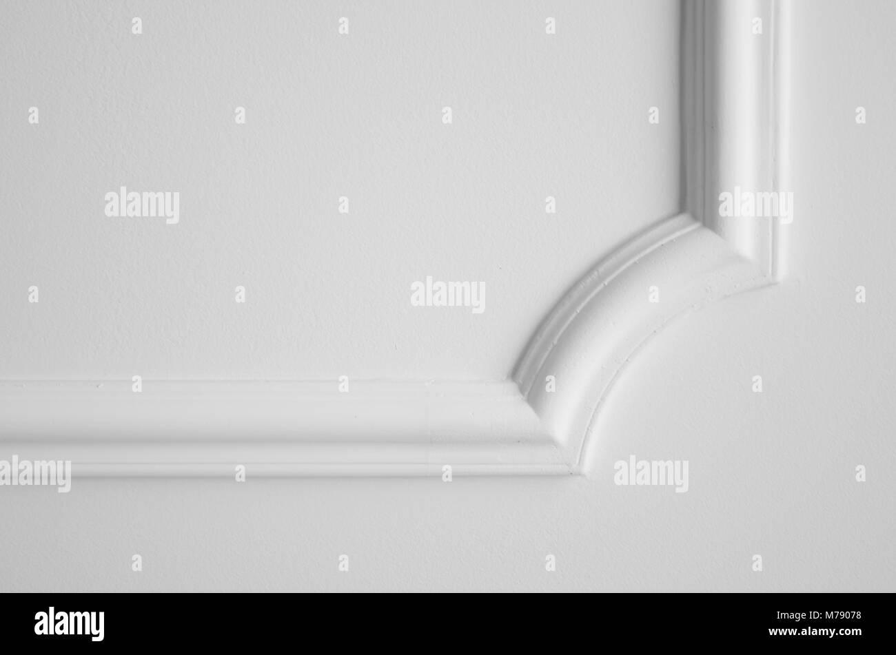 Elemento Decorativo Fatto Di Intonaco Bianco Sul Soffitto Stucco In