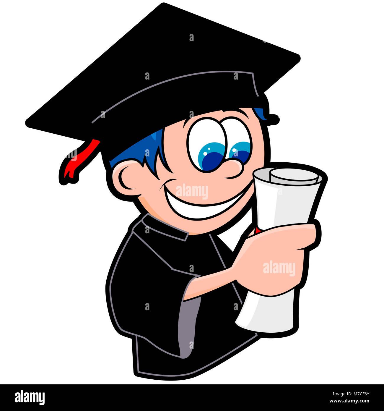Close-up di un ragazzo in un abito di laurea in possesso di un diploma ·  mauritius images GmbH   Alamy Foto Stock 46633e2f9db1