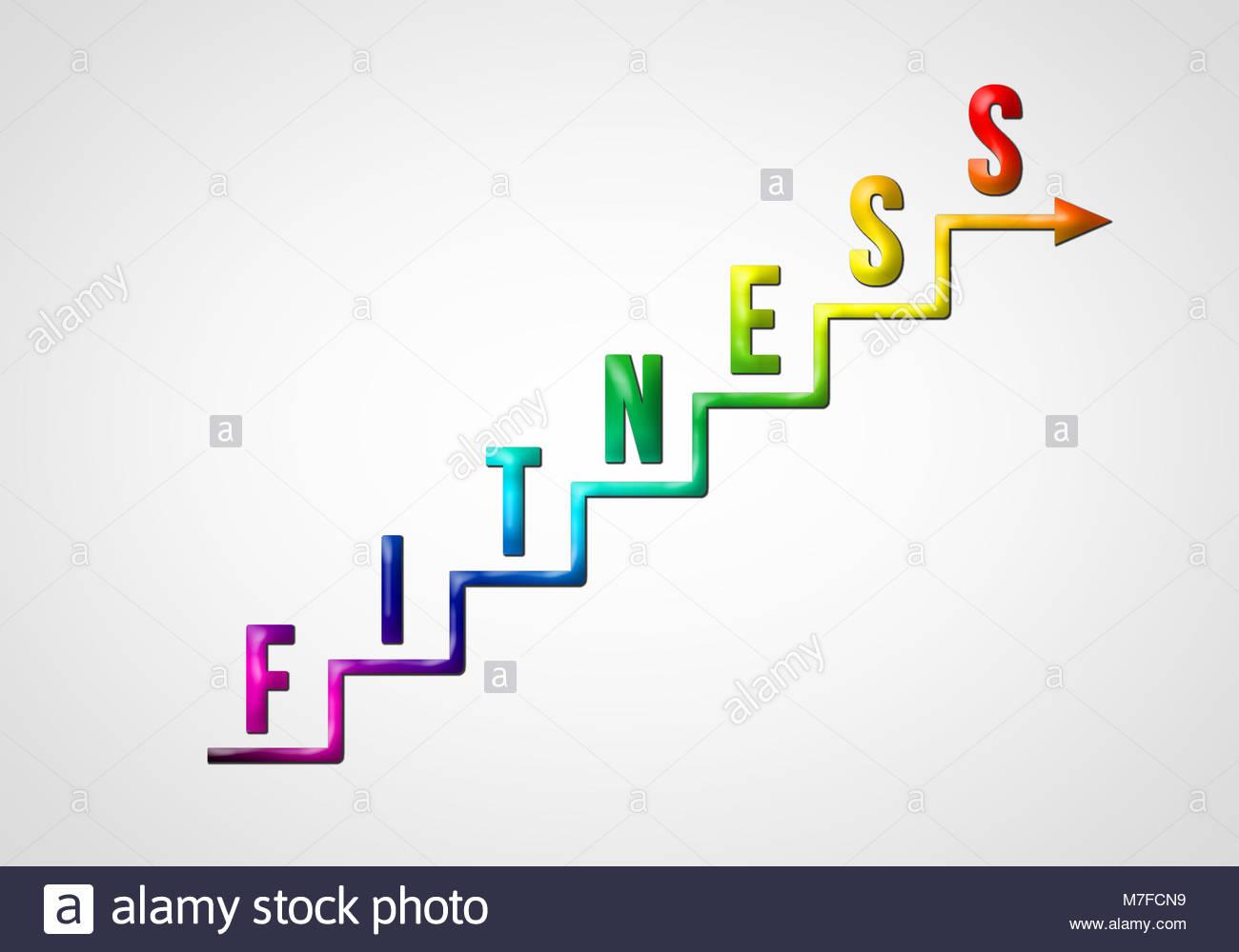 Motivazione Fitness passi Immagini Stock
