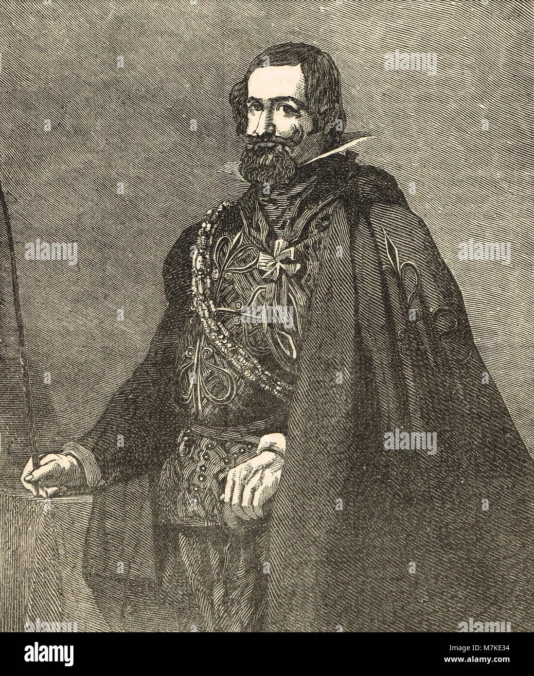 Gaspar de Guzmán, Count-Duke di Olivares Immagini Stock