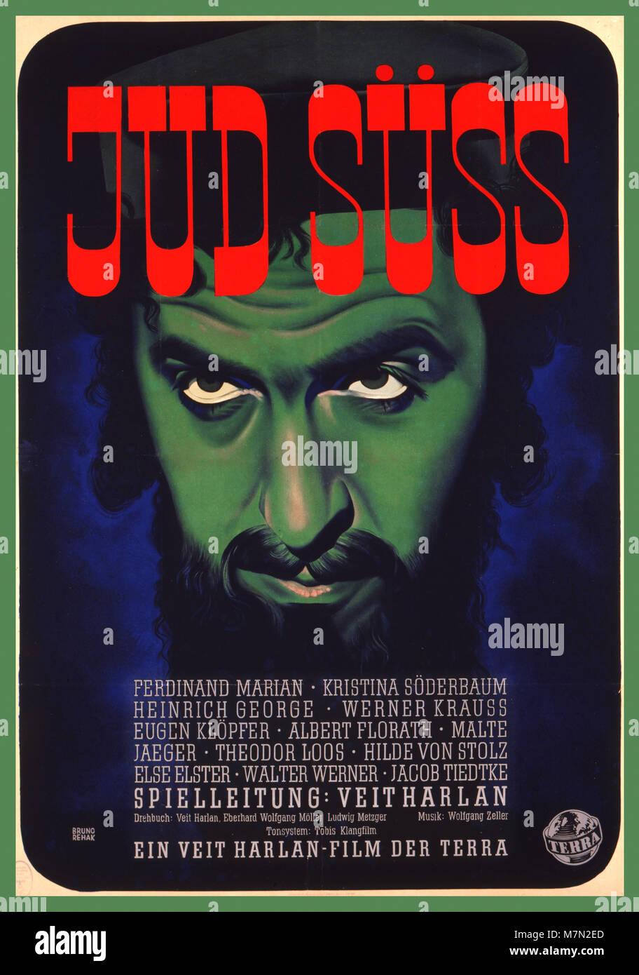 WW2 tedesco Vintage anti-semita film Jud Süss ('Süss l Ebreo') è un 1940 propaganda nazista Immagini Stock