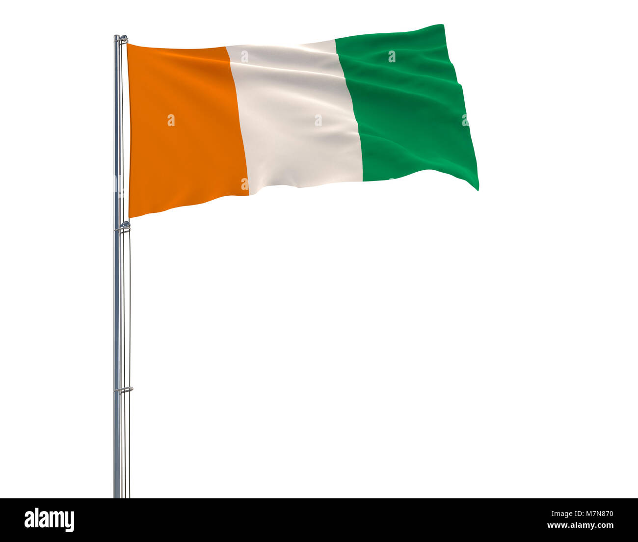 Bandiera Della Costa Davorio Il Pennone Che Fluttua Nel Vento Su