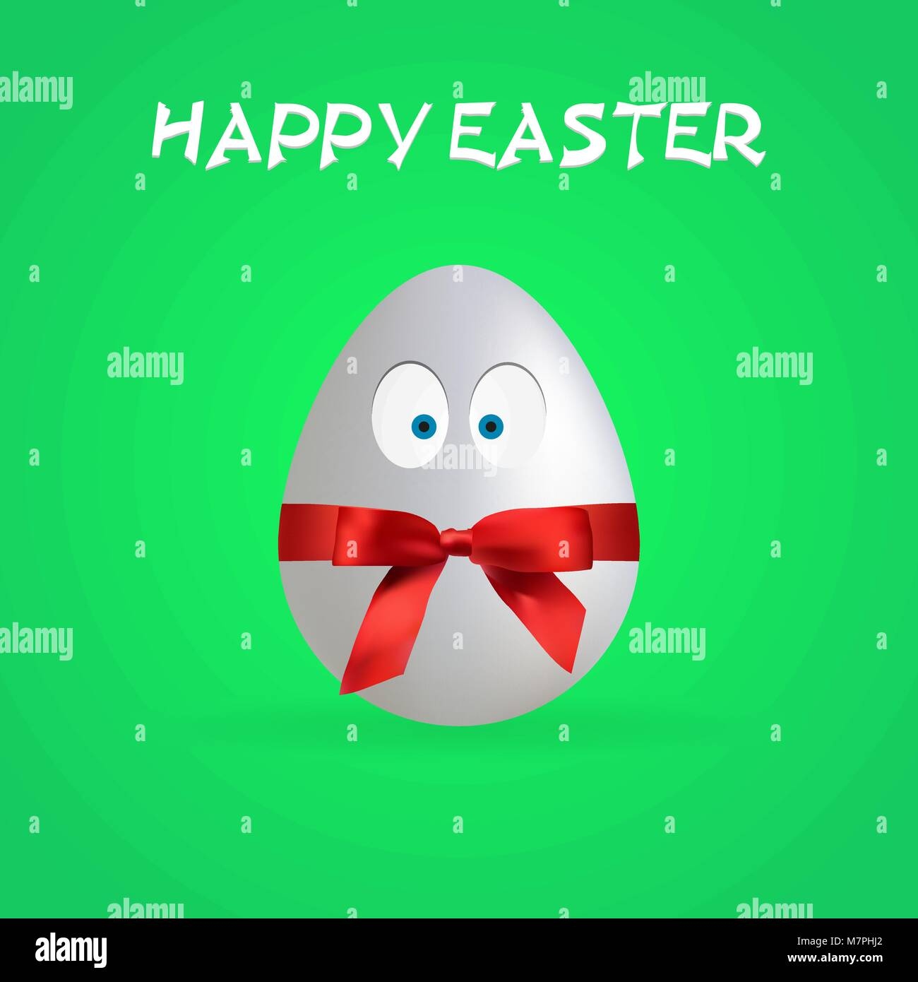 Semplice Happy Easter Egg Poster, vettore illustrazione, file EPS Immagini Stock