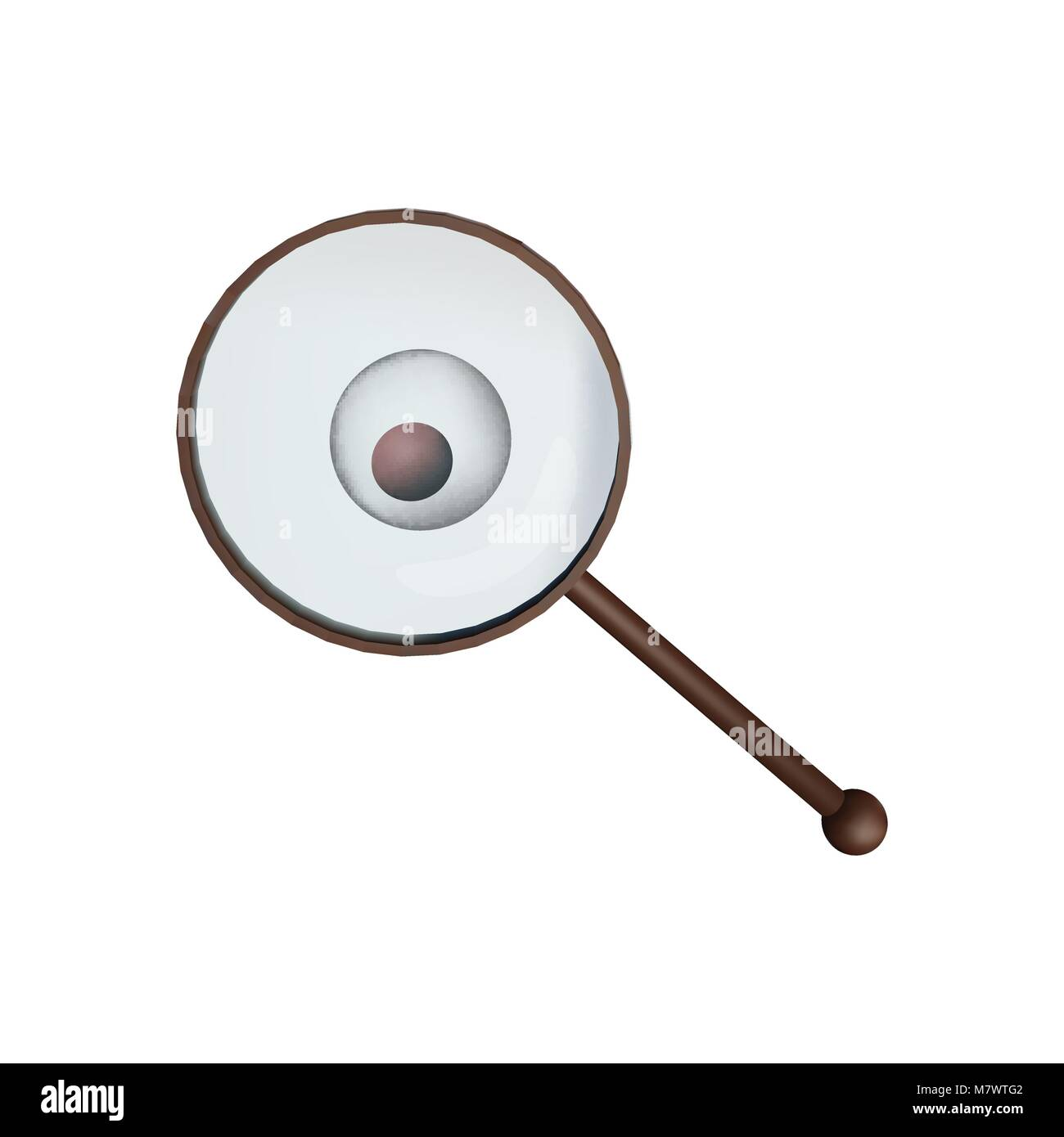 96dd3a0eaf L'immagine di uno zigote sotto una lente di ingrandimento. Microbiologia  illustrazione vettoriale. Medicina e prove scientifiche.