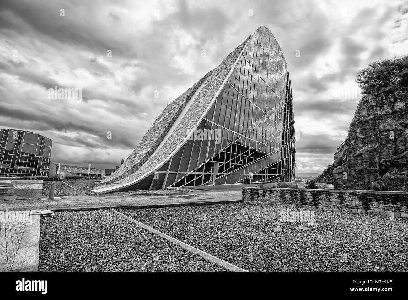 Architettura contemporanea,Museo,città della cultura della Galizia, Cidade da cultura de Galicia, di Peter Immagini Stock