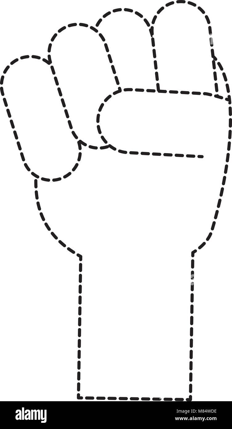 La Mano Con Il Pugno Chiuso Icona Su Sfondo Bianco Illustrazione