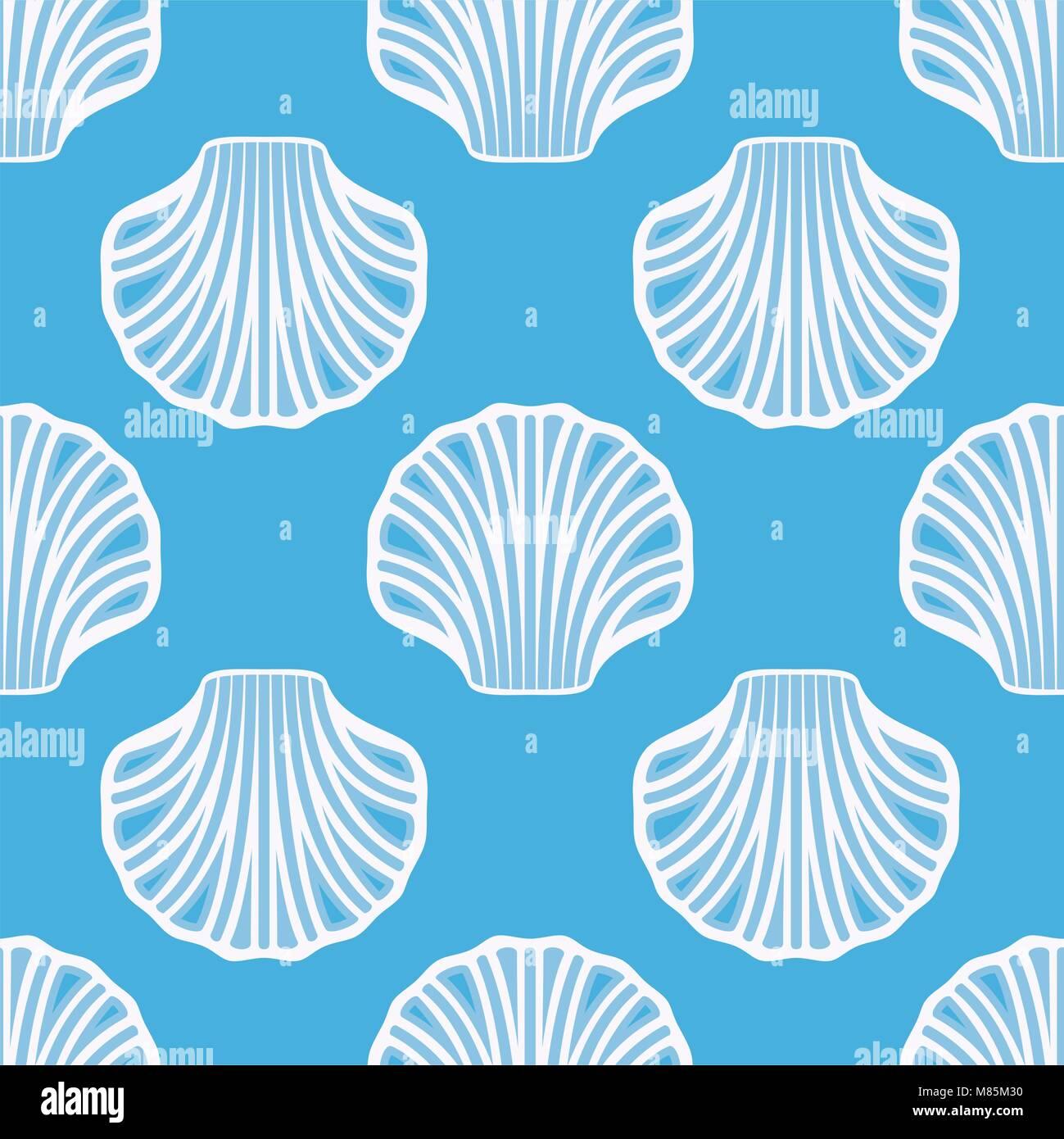 Vector Conchiglia Di Mare Perfetta Sfondo Bianco Seashell Simboli