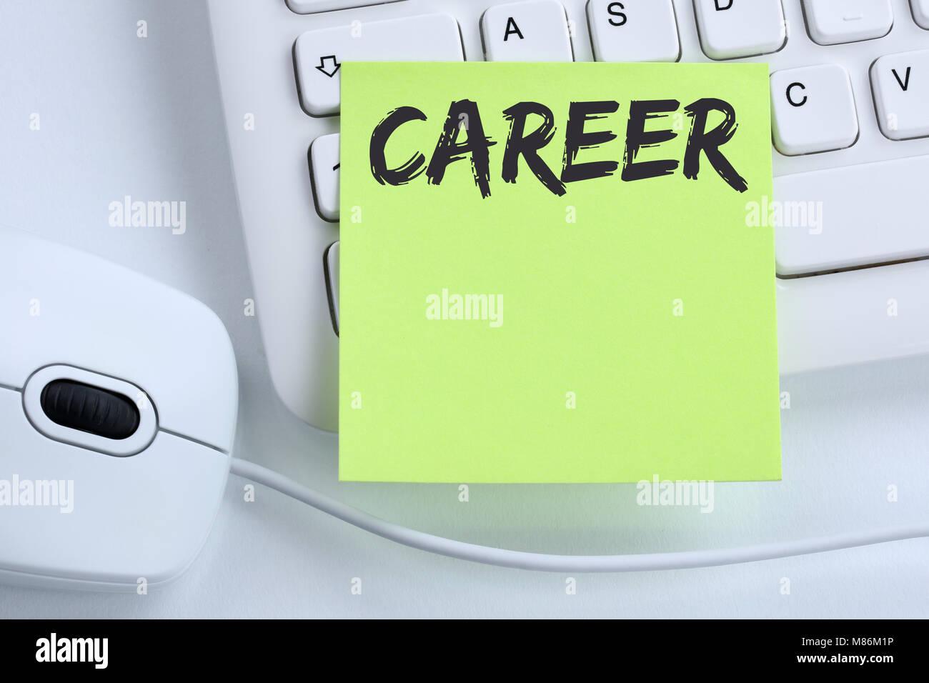 Opportunità di carriera obiettivi di successo e di sviluppo business concetto mouse della tastiera del computer Immagini Stock