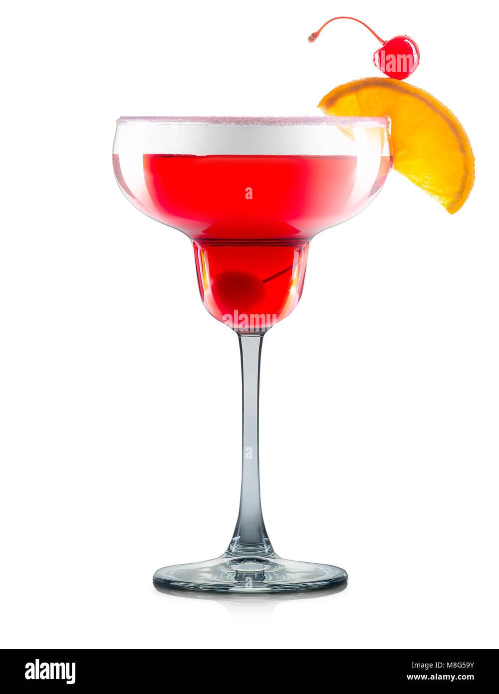 Cocktail cosmopolita isolato su sfondo bianco Immagini Stock