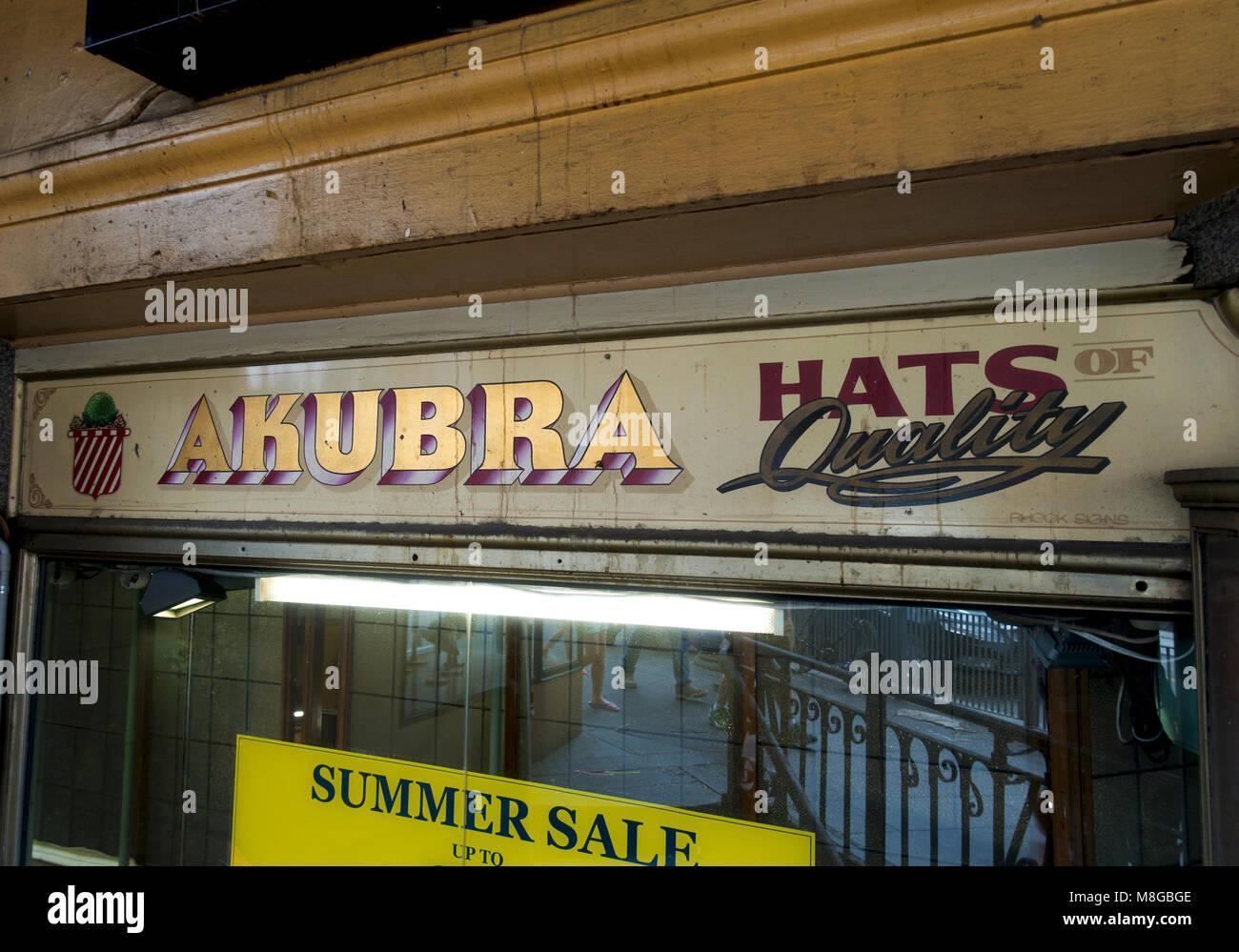 Episteme cappelli shop segno Immagini Stock