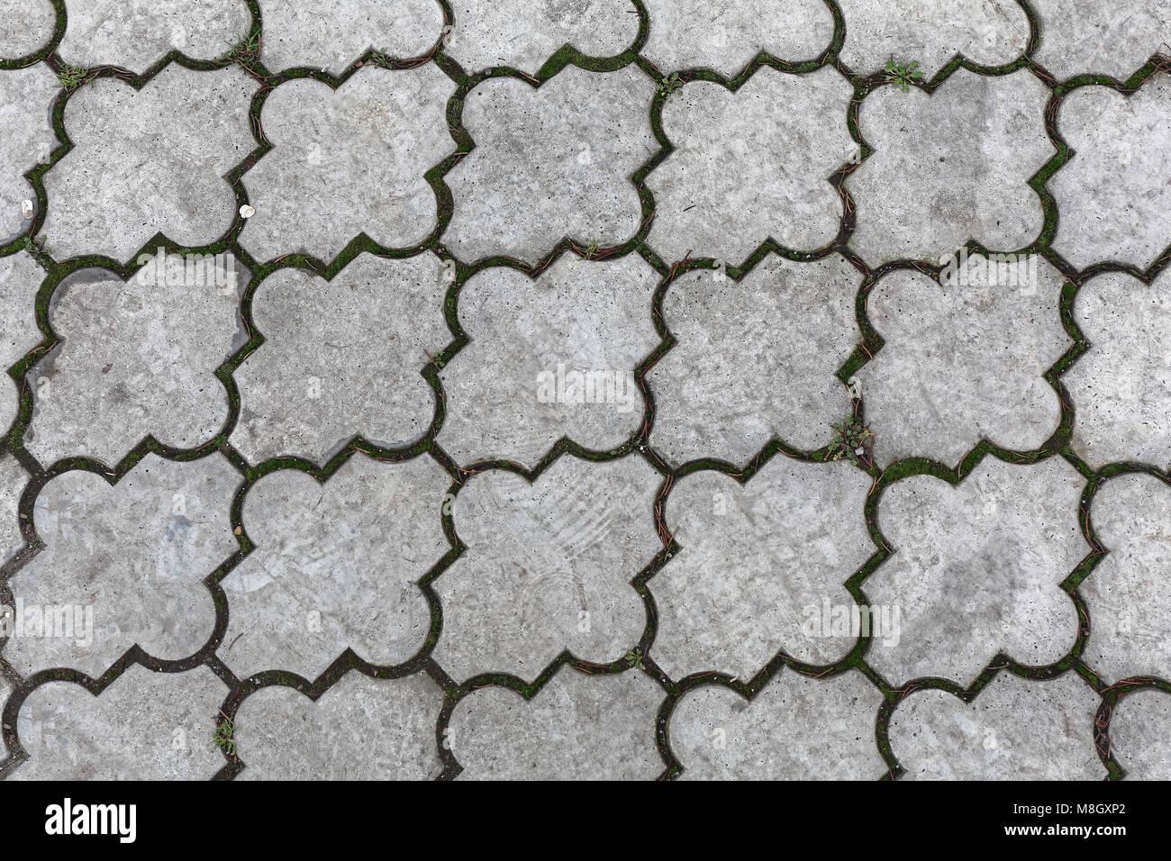 Le piastrelle di calcestruzzo per pavimento esterno texture foto
