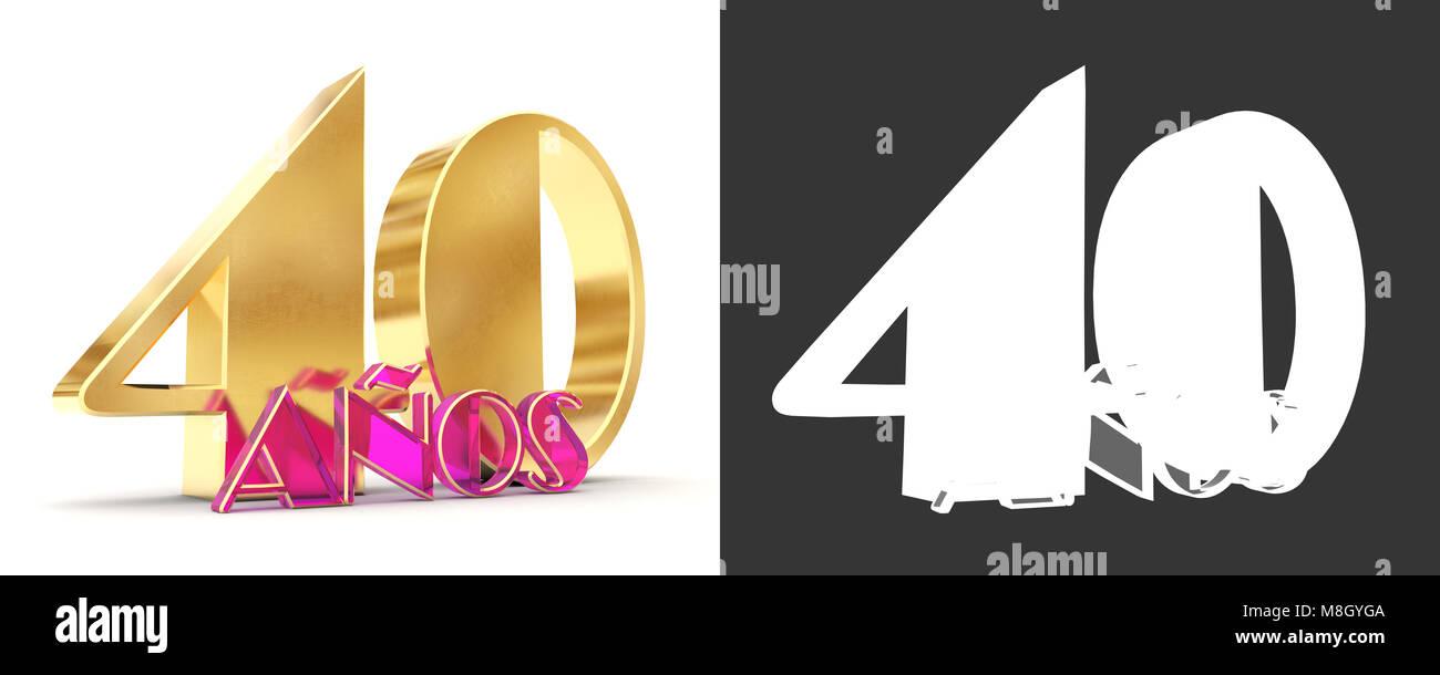 Numero quaranta anni (40 anni) la celebrazione del design