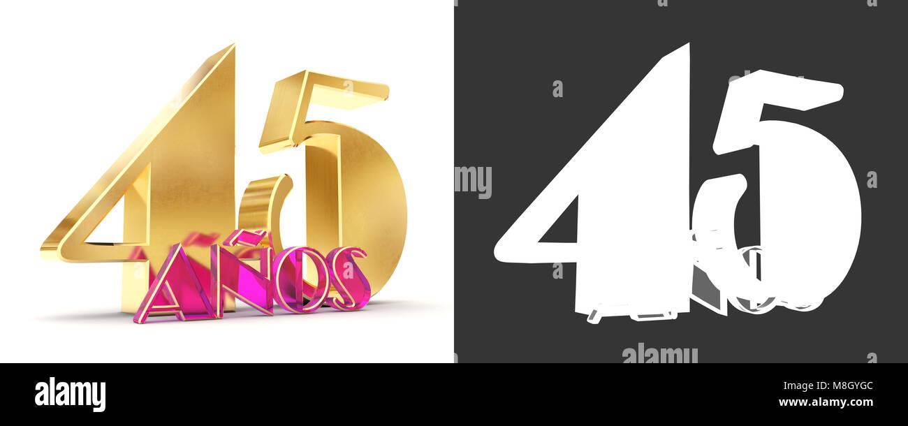 Numero quarantacinque anni (45 anni) la celebrazione del design