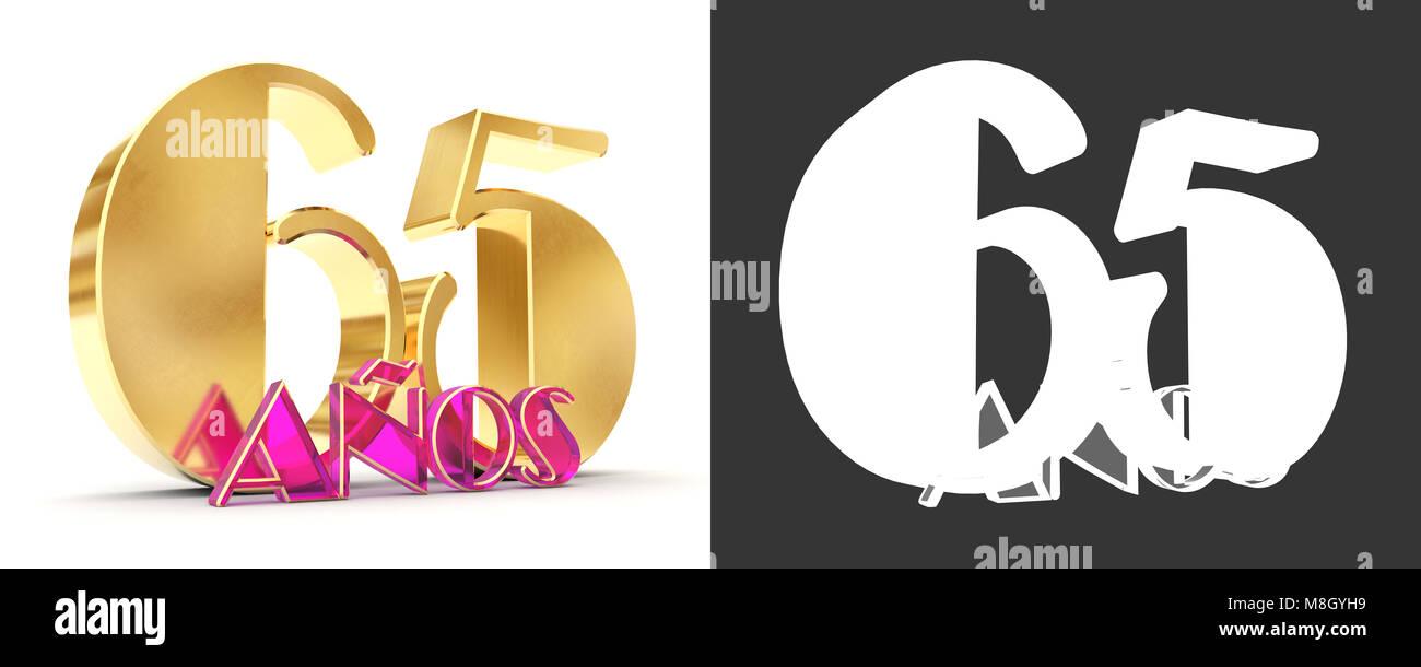 Numero sessanta cinque anni (65 anni) la celebrazione del design