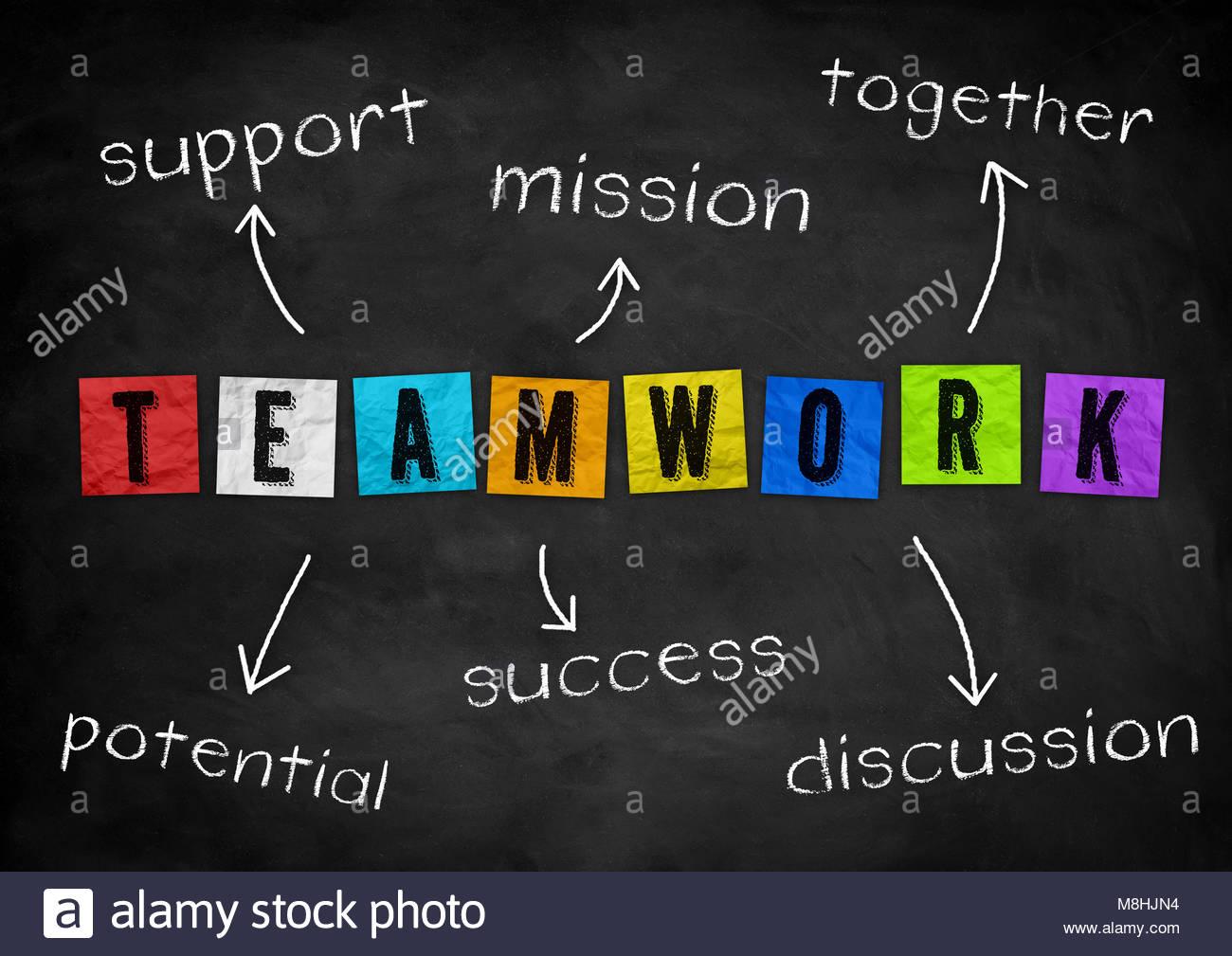 Lavoro di squadra - concetto di business Immagini Stock