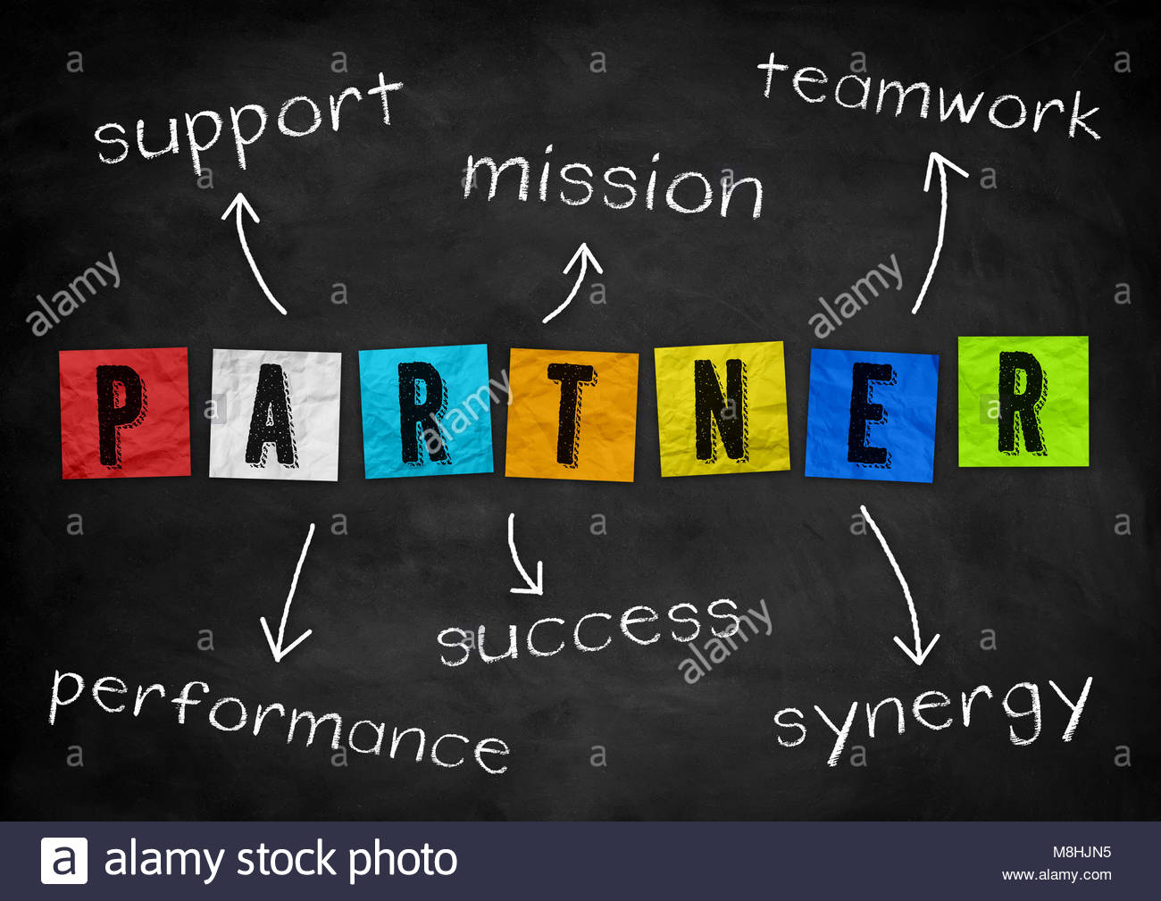 PARTNER - concetto di business Immagini Stock