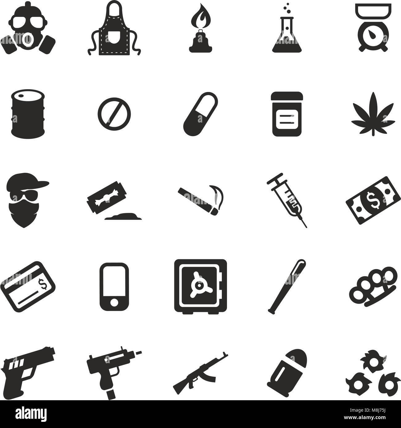 Farmaco icone del cartello Immagini Stock