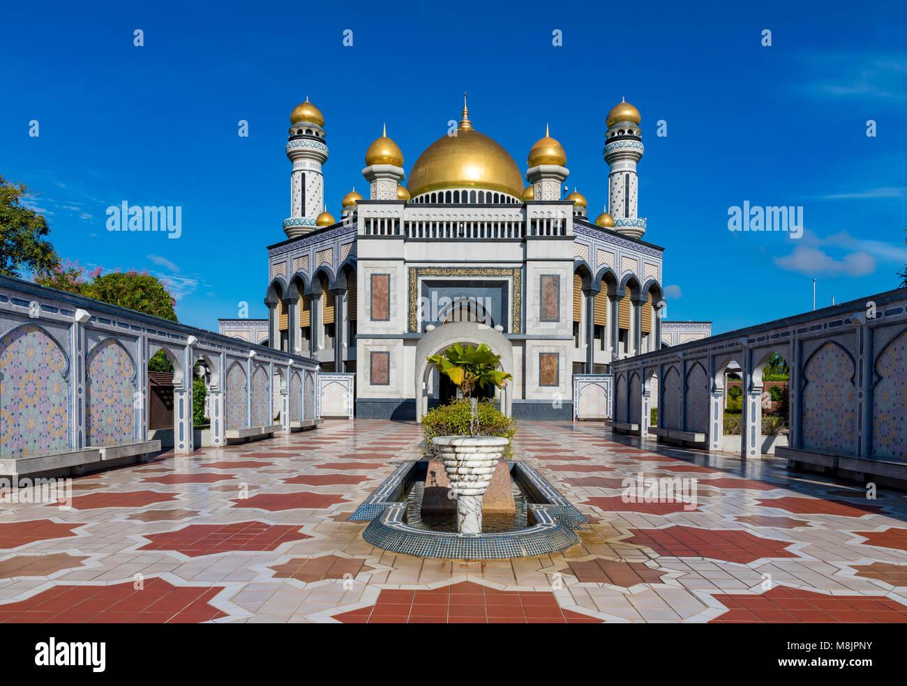 Brunei Darussalam Bandar Seri Begawan Marzo 17, 2018 Jame'ASR Hassanil Bolkiah una moschea del Brunei è Immagini Stock