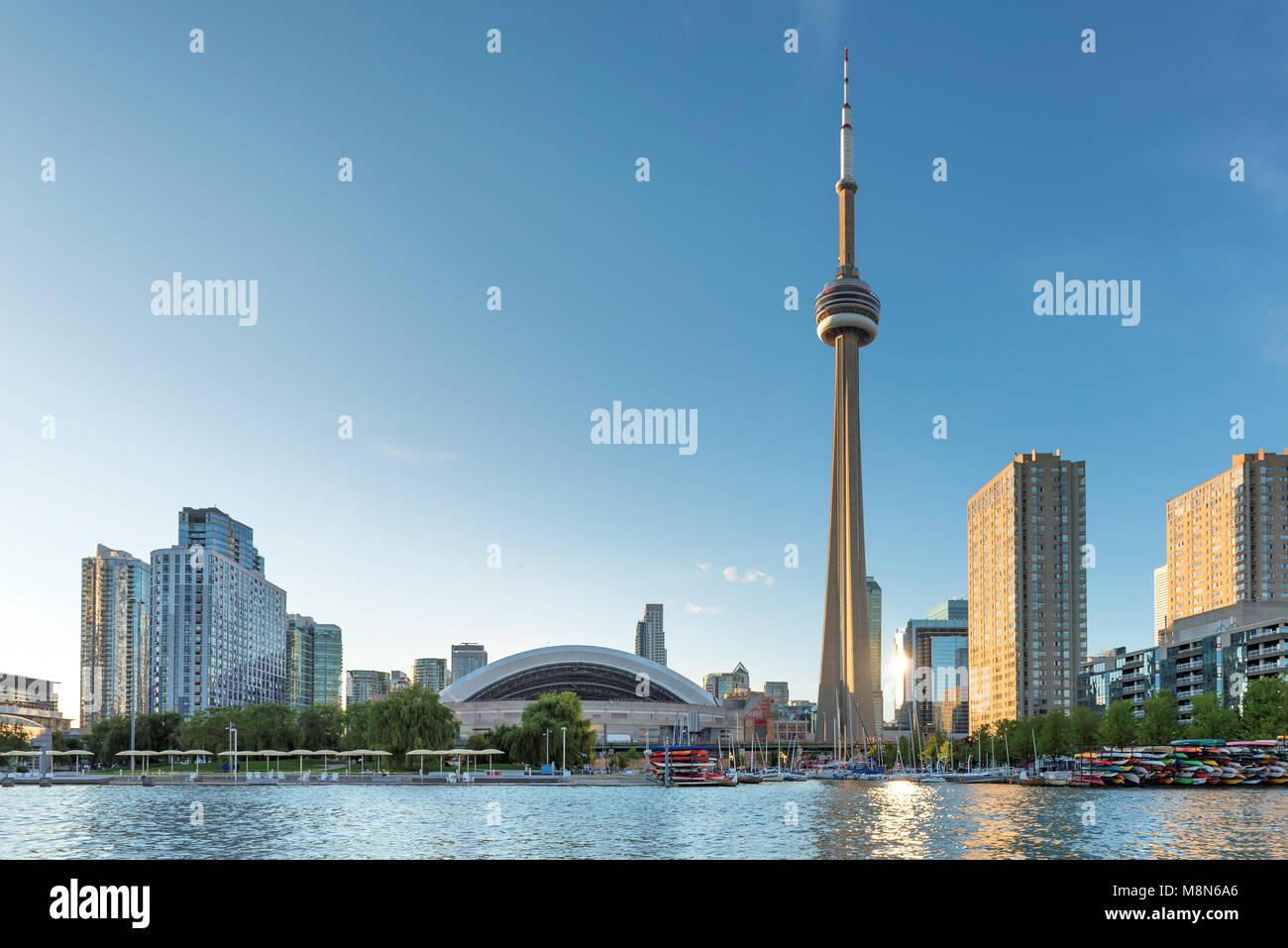 Lo skyline di Toronto, Canada. Immagini Stock