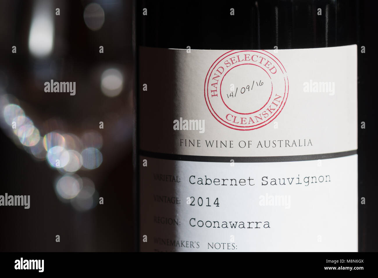 Cleanskin unlabelled bottiglia di vino Immagini Stock