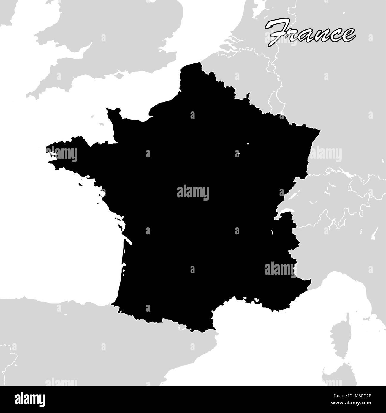 Cartina Della Francia In Bianco E Nero.Corsica France Europe Map Immagini Corsica France Europe