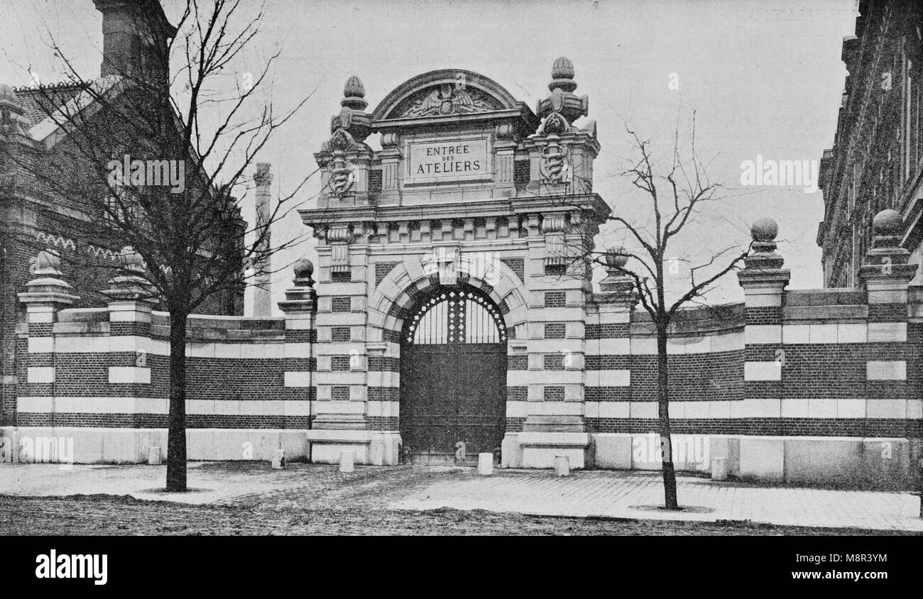 Famosa Ecole des Arts et Metiers de Lille, immagine dal settimanale francese quotidiano l'illustrazione, 13 Immagini Stock