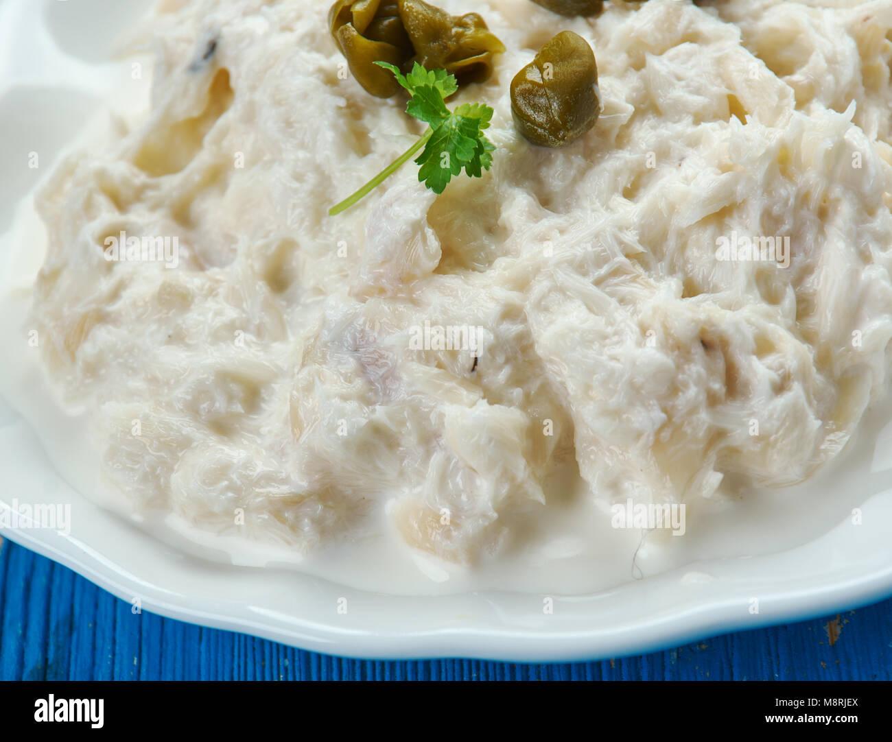 Baccala mantecato alla veneziana ,Cod in stile veneziano. Cucina ...