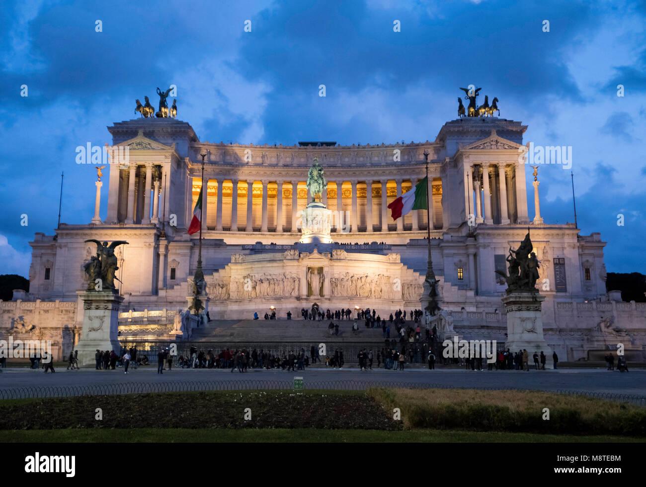 """Altare della Patria o il Monumento Nazionale a Vittorio Emanuele II """"Monumento Nazionale a Vittorio Emanuele Immagini Stock"""