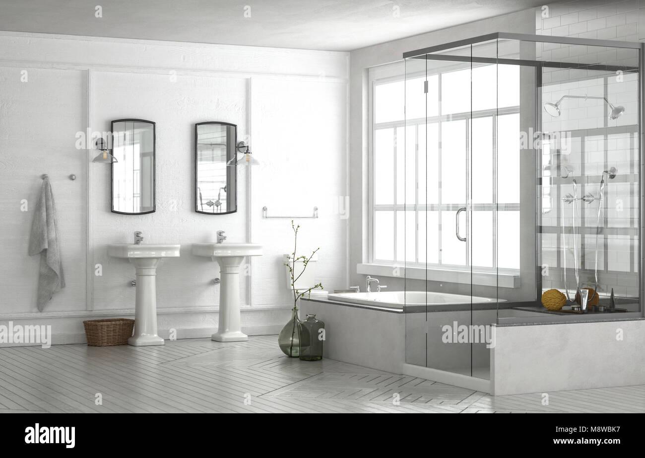 Vasca Da Bagno Sotto Finestra : Bagno con doccia sotto la finestra. stunning bagno con doccia in