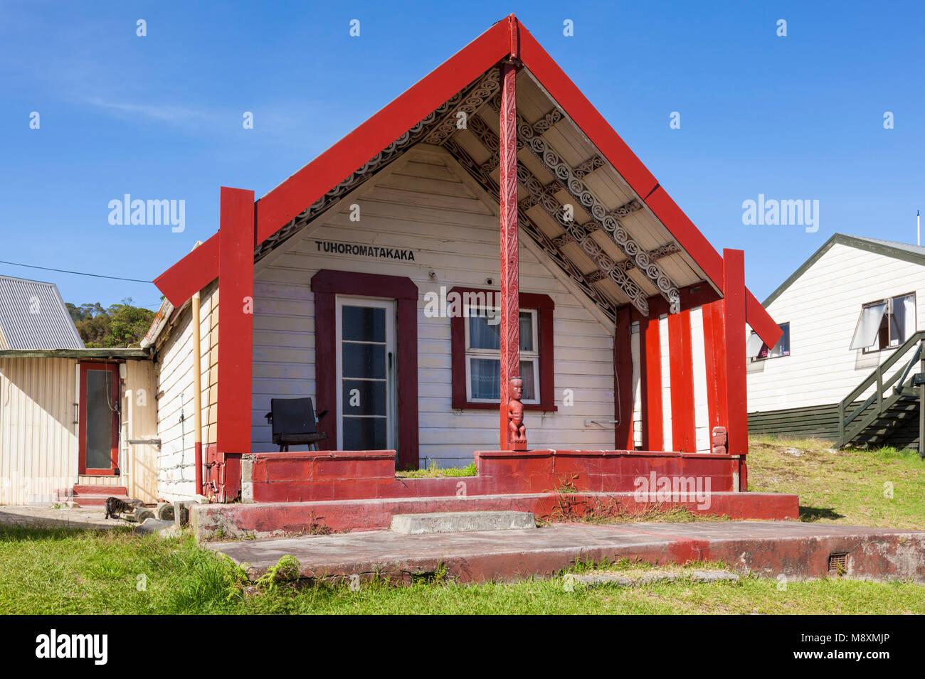 Nuova Zelanda Rotorua Nuova Zelanda whakarewarewa thermal village casa Tuhoromatakaka maggie papakura's house Immagini Stock